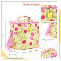 Lunch Cooler Bag Insulated MOIS DE MARS Tas Bekal tahan panas Funny