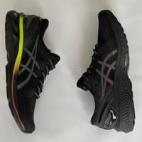 sepatu sneakers murah asics kayano 27 black reflective premium quality