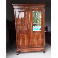 lemari baju jati-manium 2pintu/lemari pakaian 2 pintu kayu