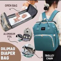 Diaper Bag Travel Baby Bed Portable Multifungsi Tas Ransel Bayi