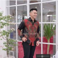 baju batik pria lengan panjang doby modern pesta kantor sb001 - S