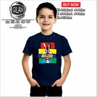 Kaos Baju Anak LOONEY TUNES BUGS BUNNY SYLVESTER TASMANIAN PORK PIGGY - XS