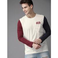 Baju Kaos Pria Alor Bahan Cotton Combed Lengan Panjang Model Terbaru