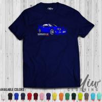 Kaos/Baju Distro/Tshirt Nissan Skyline GTR R34 Blue