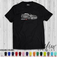 Kaos/Baju Distro/Tshirt Nissan Skyline GTR R34 Grey