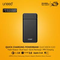 UNEED 20000mAh Powerbank 20W Fast Charging PPS PD QC 3.0 - UPB111.2 - Hitam