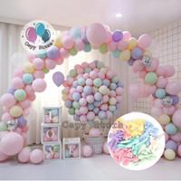 Balon Latex Macaron / Balon Warna Pastel 5 inch Per Pack (100pcs) - Biru Muda