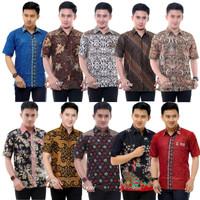 Kemeja Batik Pria Lengan Pendek Terbaru-Baju Batik-FASHION NARESWARI - MEGA BIRU, M