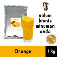 Bahan Minuman Bubuk Jeruk. Orange Bubble Tea Drink Powder Bagus