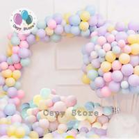 Balon Latex Macaron / Balon Warna Pastel 12inch Per Pack (100pcs)