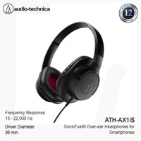 Audio-Technica ATH-AX1iS SonicFuel Over-ear Headphones for Smartphone