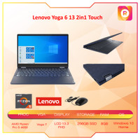 Lenovo Yoga 6 13 2in1 Touch Ryzen Pro 5 4650 8GB 256ssd Vega7 W10 13