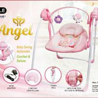 Ayunan Otomatis Baby Elle / Swing baby - PINK