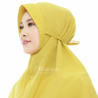 Hijab instan terbaru simple berego jersey pet tali antem