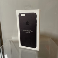 Casing Official Apple iPhone 6S Plus - Leather Case Black - Original