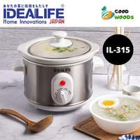Slow Cooker 1.5 Liter Tungku Elektrik Idealife IL 315