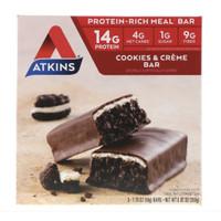 Atkins Meal Bar Cookies n' Creme Bar 5 Bars (50 g) Each