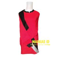 Baju Olahraga Senam Muslim seragam Wanita - Merah hitam, M
