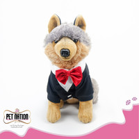 BAJU ANJING KUCING TUXEDO WITH RED BOW | rb