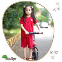 Baju Rumah Anak / Cotton Bamboo / 4-12 year / Red - Merah / Treetop
