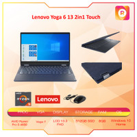 Lenovo Yoga 6 13 2in1 Touch Ryzen Pro 5 4650 8GB 512ssd Vega7 W10 13