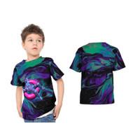 2S5 - Baju Kaos Tshirt Anak Abstrak Astronot Luar Angkasa 01 Custom -
