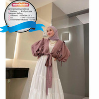 Mira Outer l Outher Cardigan Polos Lengan Balon