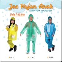 Jas Hujan Setelan Baju Celana Anak Laki laki Cewek Cowok Usia 7-10 Thn