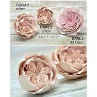 Gumpaste Flower David Austin Rose DARS2/M2/L2 cake topper decoration