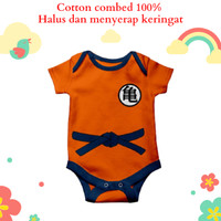 Baju jumper bayi karakter goku dragonball motif lucu dan unik