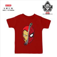 Kaos Baju Anak MARVEL IRON MAN X SPIDER-MAN Kaos Distro - Karimake