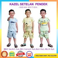 Kazel Setelan Pendek Indian Edition Boy 3pcs Baju Bayi