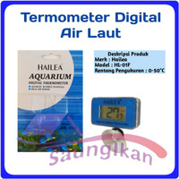Thermometer Digital Aquarium Aquascape Air Laut Tawar HAILEA HL-01F