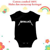 Baju jumper bayi motif unik lucu karakter band metallica