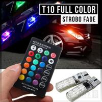 2PCS LAMPU SENJA LED RGB T10 5050 SMD REMOT KONTROL MOTOR DAN MOBIL
