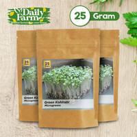 Benih Sayur Microgreens Green Kohlrabi (25 gram)