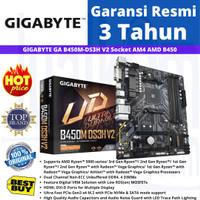 GIGABYTE MAINBOARD B450M DS3H V2 AMD RYZEN AM4 - MOTHERBOARD GIGABYTE