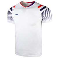 T-Shirt/Kaos/Jersey Badminton Player Li-Ning / LiNing AAYQ243-1 White