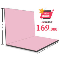 Alas Foto Lipat Jumbo 50x70 Background Foto Produk Warna Polos Series - Baby Pink