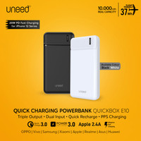 UNEED 10000mAh Powerbank 20W Fast Charging PPS PD QC 3.0 - UPB111