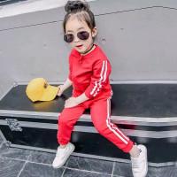 Setelan Zipper 1 - 6 Thn MAXKENZO Baju Anak Sweater - Merah, L