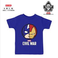 Kaos Baju Anak MARVEL CIVIL WAR CAPTAIN AMERICA IRON MAN - Karimake