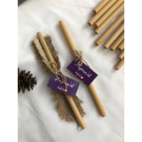 souvenir sedotan bambu / bamboo straw 1pcs murah medium / large boba