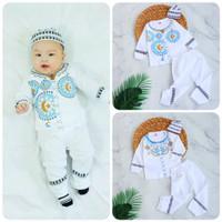 Setelan Baju Koko Anak Bayi Laki-laki Plus Peci Usia 3 - 24 bulan