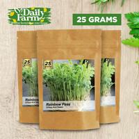 Benih Sayur Microgreens Rainbow Peas (25 gram)