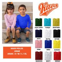 Baju Kaos Polos Anak Tangan PANJANG Unisex Usia 2 Bulan - 8 Tahun