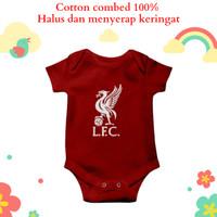 Baju jumper bayi karakter unik dan lucu motif logo klub bola liverpool