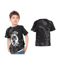 2S5 - Baju Kaos Tshirt Anak Abstrak Astronot Luar Angkasa 02 Custom - - S