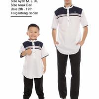 Baju koko kurta pria Couple ayah & anak bahan Toyobo premium CB01 - L 2-12thn