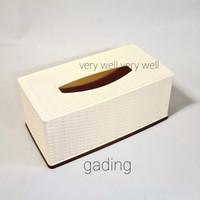 asvita tempat tissue kotak tisu segi motif rotan